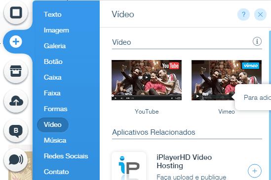 Wix: vídeo