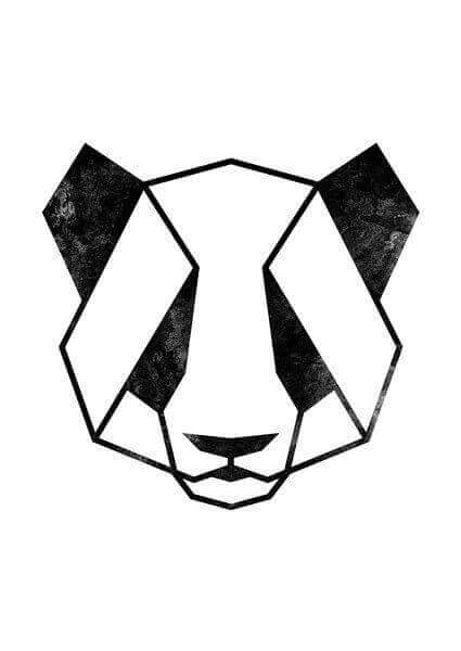 Desenho simétrico de urso
