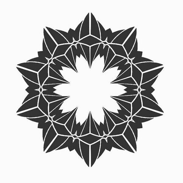Desenho simétrico ilustração