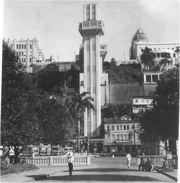 Elevador Lacerda en 1934 (Fuente: sitio web Cidade-Salvador)