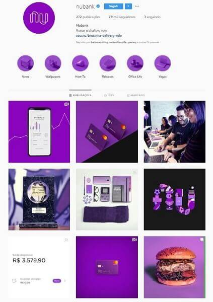 Feed do Instagram: Nubank