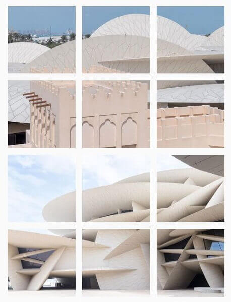 Feed do Instagram: mosaico no Instagram de Jean Nouvel