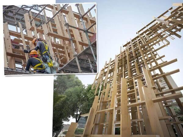 Japan House São Paulo: construção da fachada