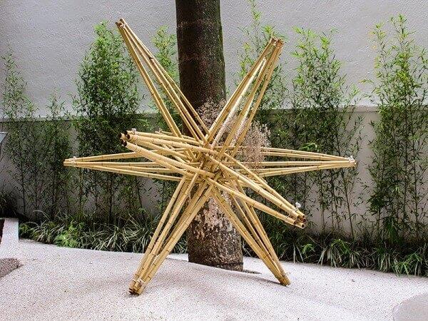 Japan House: peça em bambu no jardim (fonte: São Paulo sem mesmice)