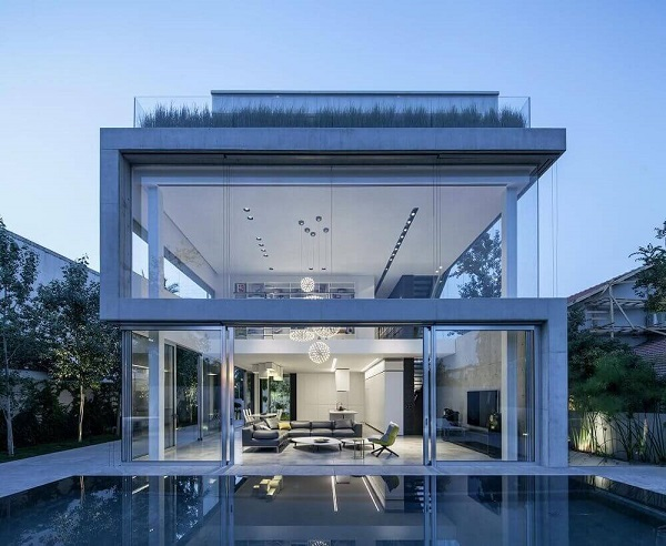 Minimalismo: casa com fachada minimalista