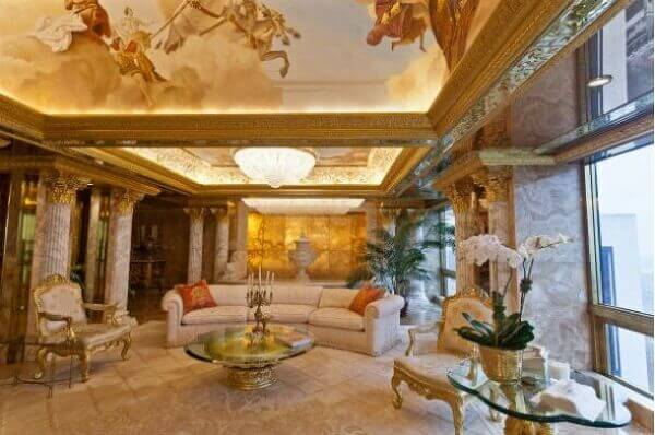 Penthouse Ouro e Diamante de Donald Trump (sala de estar)