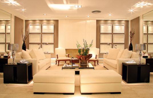 Simetria na decoração (sala de estar)