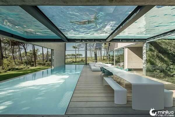 Piscina de vidro: piscina com fundo de vidro