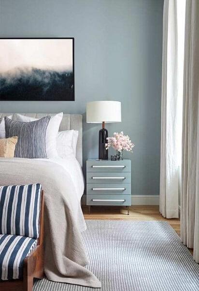 Círculo Cromático: sala com tons de azul