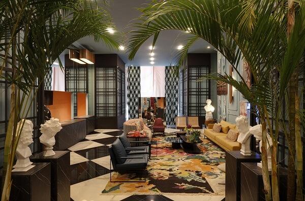 CASACOR 2019 espaço Foyer Bienvenue - vista da entrada