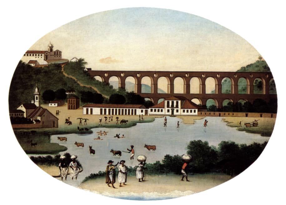 Desenhos dos Arcos da Lapa: Aqueduto da Carioca em 1790 (Leandro Joaquim)