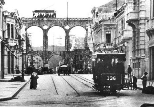 Arcos da Lapa: Avenida Mem de Sá antigamente