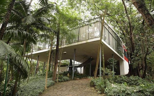 Projetos arquitetônicos: Casa de Vidro - Lina Bo Bardi