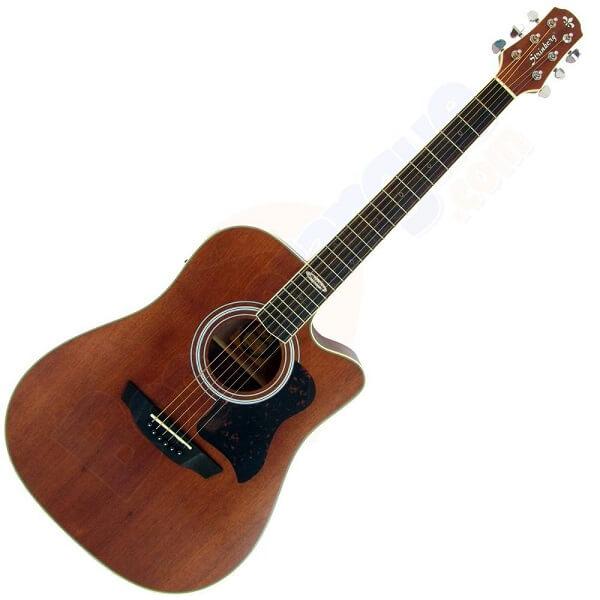 Madeira de lei: violão de madeira escura
