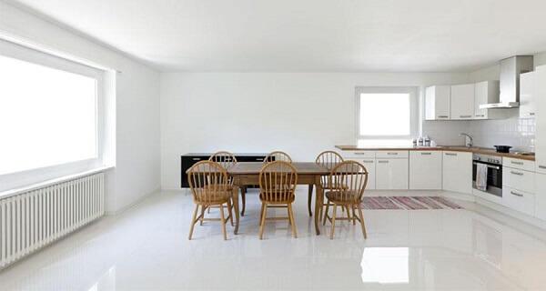Porcelanato para cozinha: piso e revestimento da mesma cor