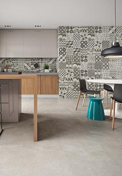 Porcelanato para cozinha: porcelanato acetinado