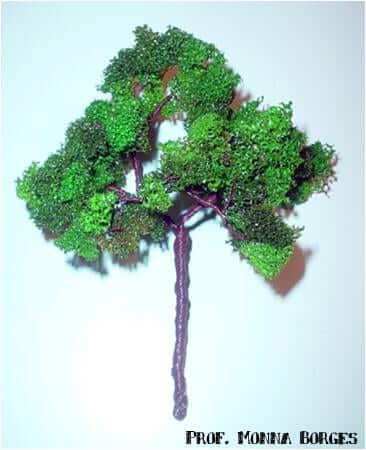 Como fazer uma árvore para maquete: árvore de esponja de lavar louça