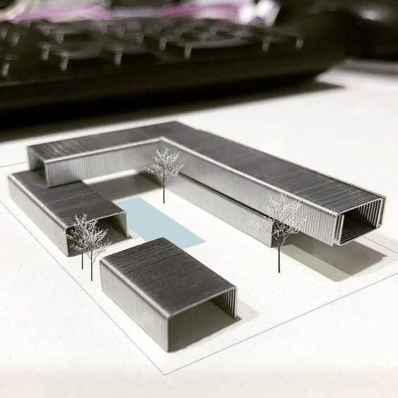Como fazer uma maquete: maquete de grampos