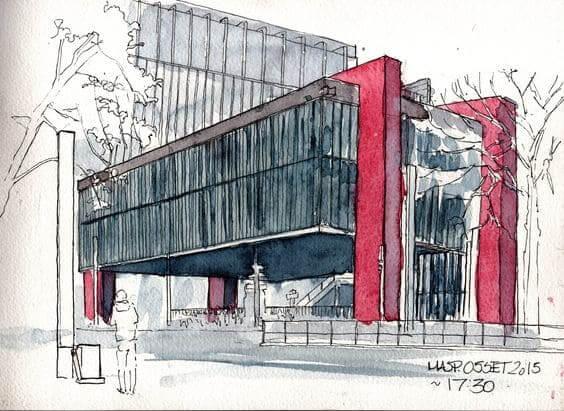Desenhos de arquitetura: Masp, obra icônica de Lina Bo Bardi