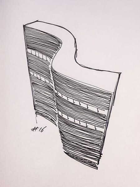 Desenhos de arquitetura: Edifício Copan, de Oscar Niemeyer