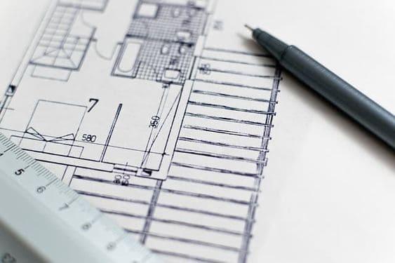 Desenhos de arquitetura: exemplo de desenho técnico de arquitetura