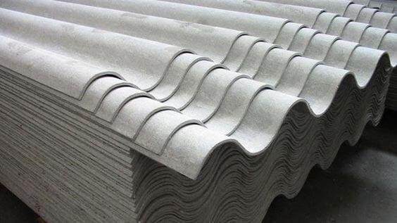 Inclinação de telhado: telha de fibrocimento ondulada