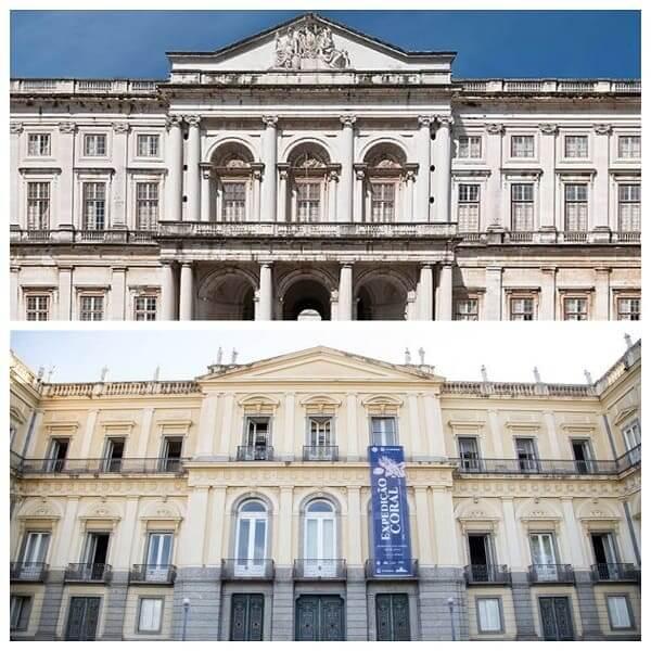 Quinta da Boa Vista: Palácio da Ajuda (em cima) e Quinta da Boa Vista (embaixo) com várias semelhanças entre si