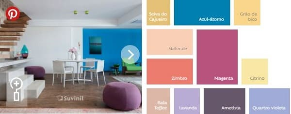 Paleta de cores Suvinil: cores do grupo magnético