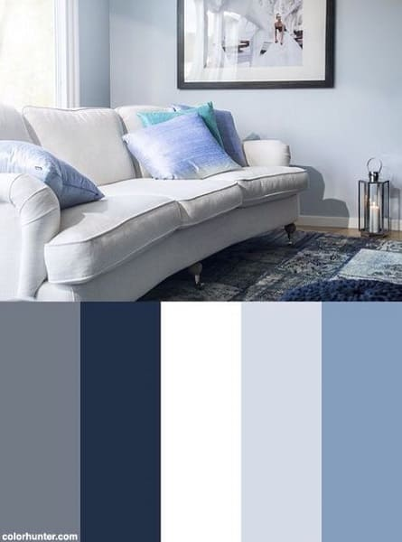 Paleta de cores azul, branco e cinza é sinônimo de conforto e tranquilidade