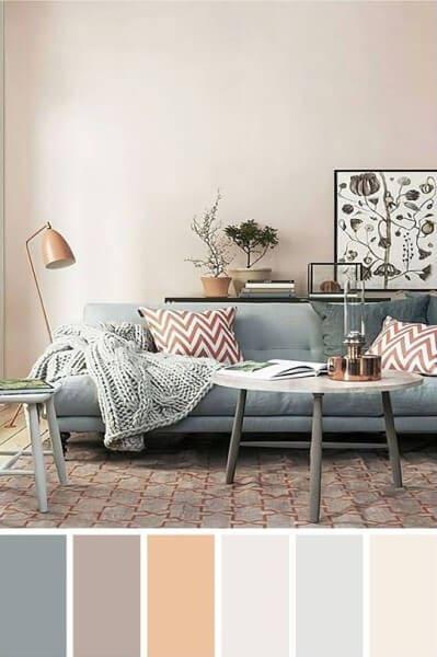 Paleta de cores com tons claros (foto: Pinterest)