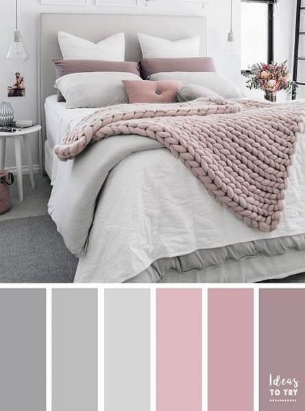 Paleta de cores: tons de rosa em pastel deixam ambiente delicado
