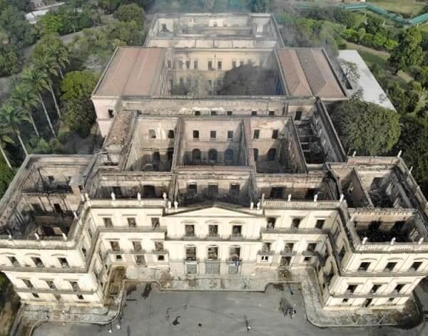 Quinta da Boa Vista: Museu da Quinta da Boa Vista depois do incêndio