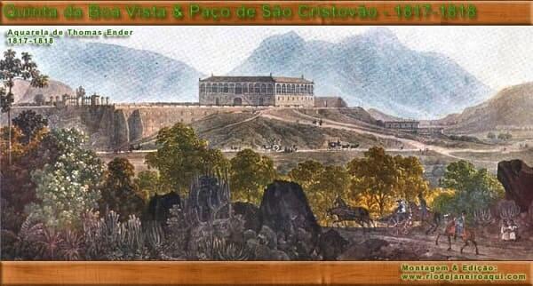 Quinta da Boa Vista: pintura de Thomas Ender retrata a Quinta da Boa Vista entre 1817 e 1818