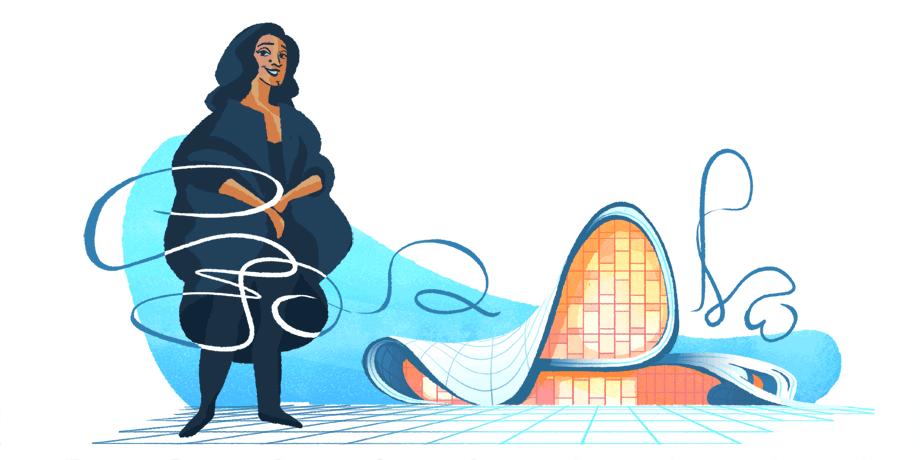 Zaha Hadid: homenagem do Google à arquiteta, em 2017 (foto: Casa Cláudia)