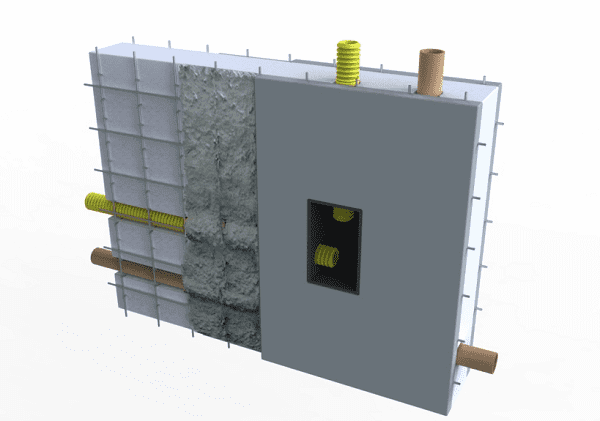 Casa de isopor: exemplo de caixa de passagem