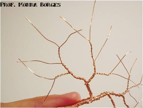 Como fazer árvore para maquete: tronco de fio de cobre
