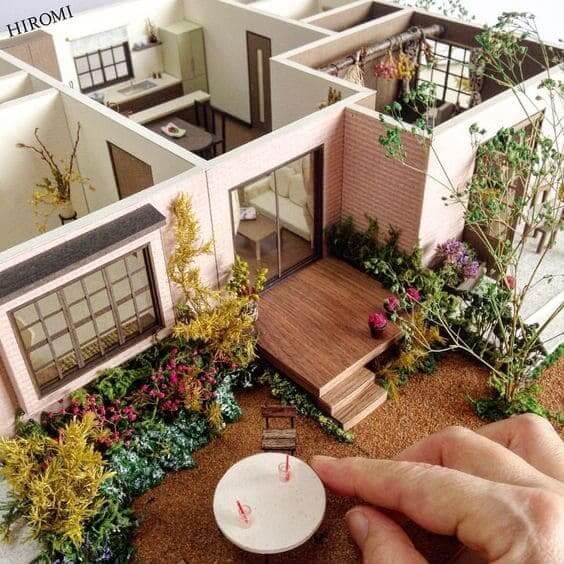 Como fazer uma maquete: fachada e interior de maquete hiper realista
