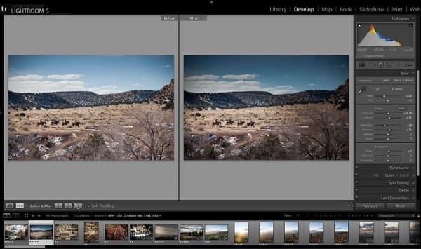 Editor de fotos profissional: edição de imagem no Adobe Photoshop Lightroom