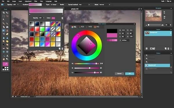 Editor de fotos profissional: Pixlr - ajuste de cores