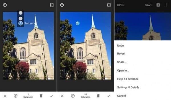 Editor de fotos profissional: funcionalidades do Snpaseed