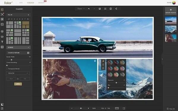 Editor de fotos profissional: montagem no Fotor