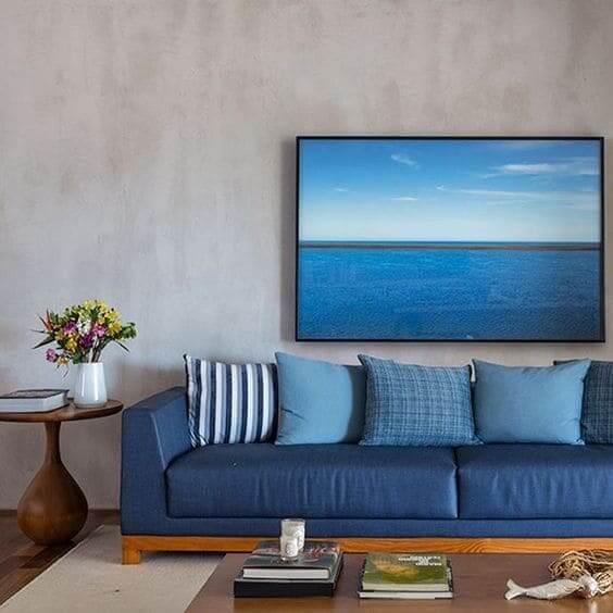 Paleta de cores azul: combinação deixa sala aconchegante