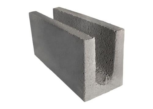 Tipos de tijolos: tijolo de concreto canaleta