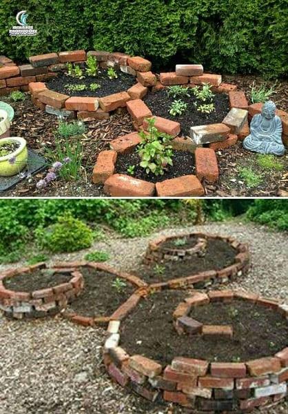 Hortas Urbanas: canteiro de tijolo