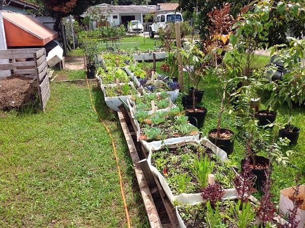 Hortas Urbanas: horta com vasos e canteiros pequenos