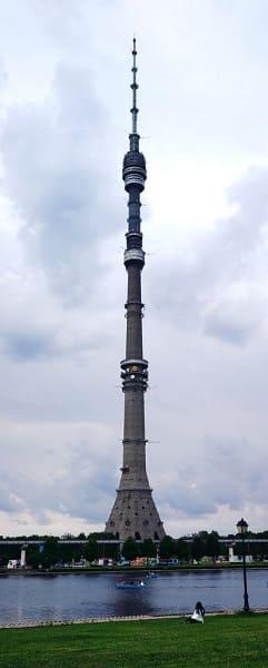 Torre mais alta do mundo: Torre Ostankino (4ª posição)