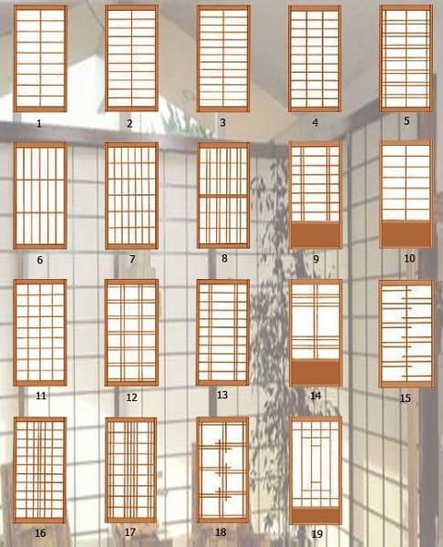 Casas japonesas com paredes de papel têm vários estilos