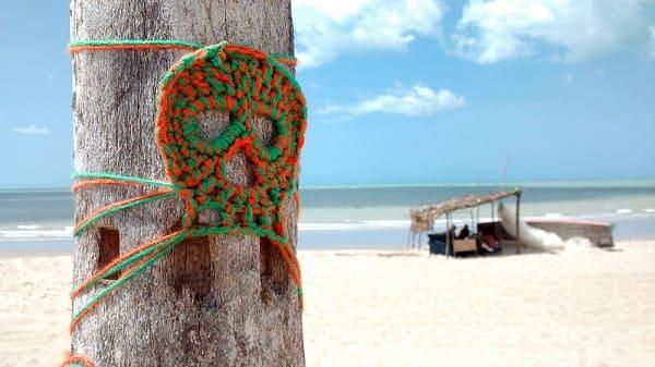 Intervenção Urbana: Somos Todos Caveira - Leandro Dário - Praia