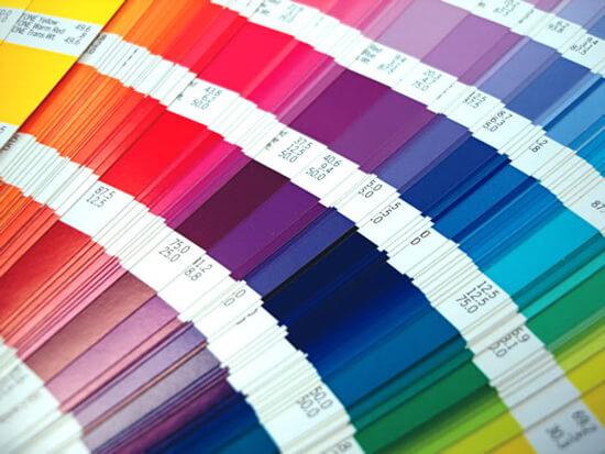 Mistura de cores: paleta de cores