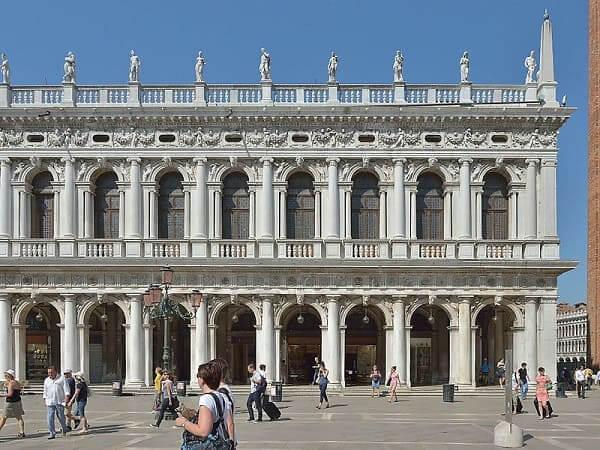 Balaústre: Biblioteca Marciana em Veneza